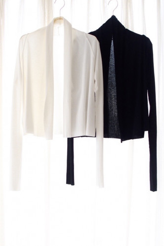 Alison cotton cardigan BLACK